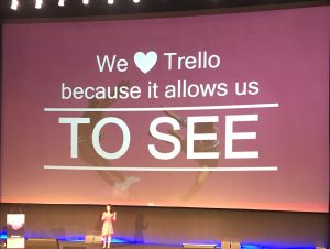 We love Trello because it allows us to SEE